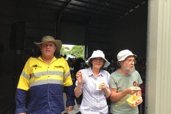 Taskforce volunteers Tim Brown, Janice Rodway and Daniel Patoux