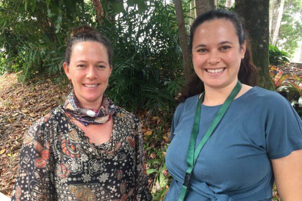 Returning Taskforce coordinator Sylvia Conway (left) with Ciara Bridgland